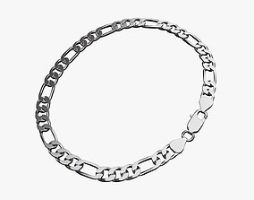Locked chain necklace 3D model