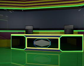 TV Studio Room 3D model