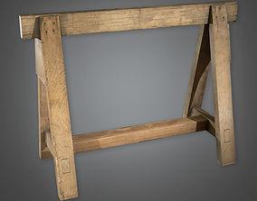 3D model Wooden Sawhorse TLS - PBR Game Ready