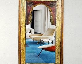 Antique Moorish Arched Mirror 3D