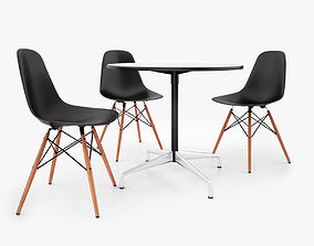 Vitra DSW Chair and Eames Table 3D model