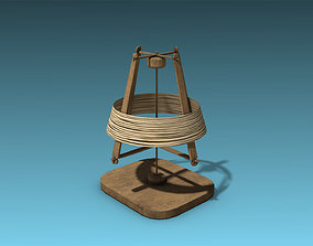 Spinning Wheel 3D asset VR / AR ready