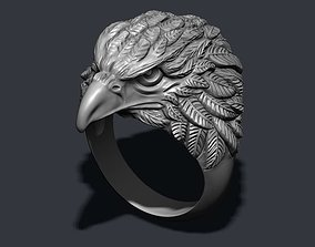 fly 3D printable model Eagle ring