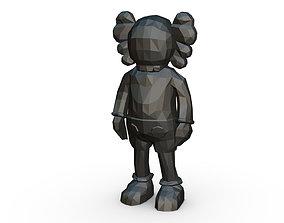 Kaws figure low poly 3D printable model