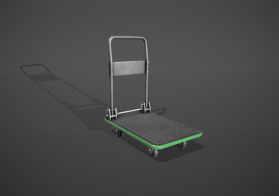Folding Platform Trolley - Green Accents