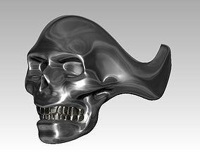 3D printable model Plain Skull ring