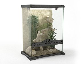 3D model Chameleon In Terrarium
