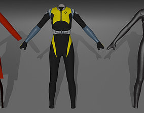 3D model negasonic comic book female costumes v1