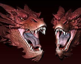Smaug Head 3D print model
