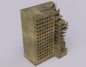 3D model architecture Destroyed building