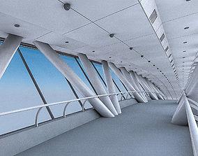 Kingdom Centre Skybridge Interior 3D asset