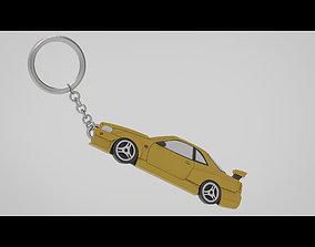 3D R34 GTR Keychain