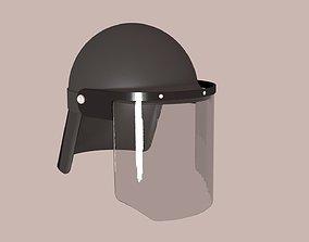 3D model Police Anti-Riot Helmet