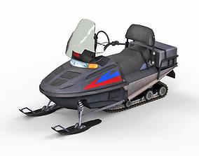 Snowmobile 3D asset