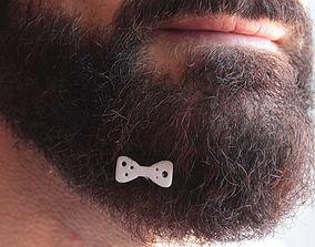 3D printable model Papillon for beard - front wearing