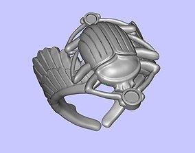Scarab Ring 3d print model 3D print model 3D print model