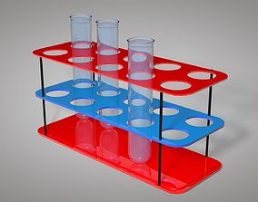 Test Tube And Stand 3D Model realtime