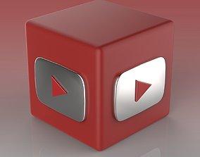 Youtube Logo 3D asset