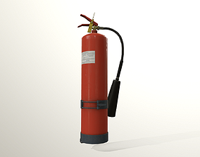 Fire extinguisher game ready model Low-poly 3D game-ready