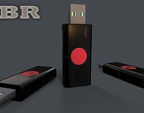 Memory card - Kingston 32GB PBR flashdrive 3D asset