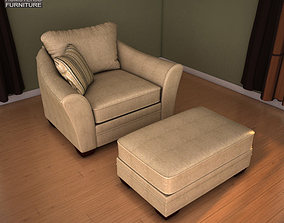 3D model Ashley Lena Putty Oversized Chair