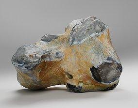 3D asset realtime Scanned Big Flint Stone Rock