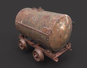 Rusty Oil Tank Railcar 3D model