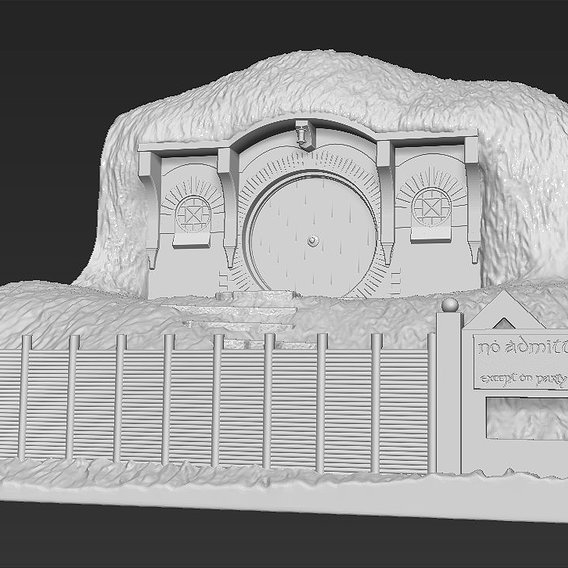 Bag End Lord of the Rings for 3D printing