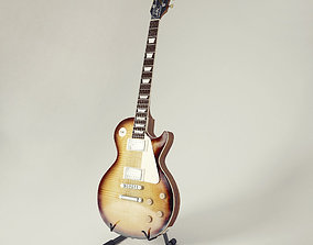 3D Electric guitar Gibson Les Paul