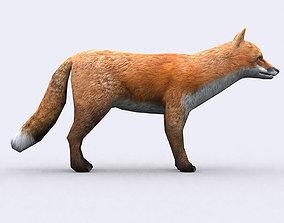 3DRT - Fox animated game-ready