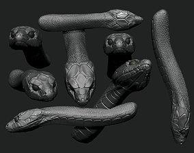 3D print model danger snake head
