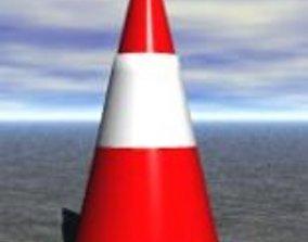 round traffic cone 3D model