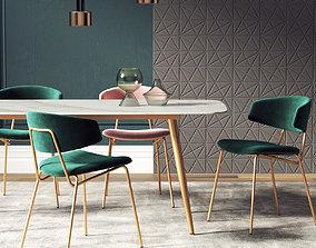 Dining Room Interior 219 3D