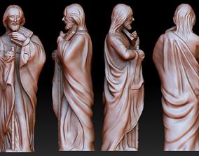 Statue 9 of saint Notre Dame 3D print model
