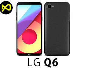3D model LG Q6 Astro Black