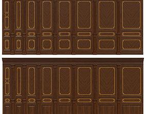 Wood panels with veneer 010 3D model