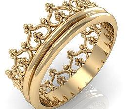 fashion ring crown 3D print model