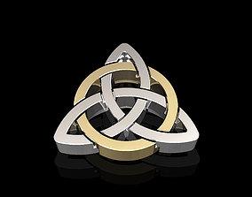 silver 3D print model Celtic pendant