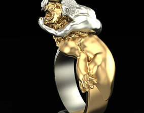 Ring Wrestler with lion 3D print model