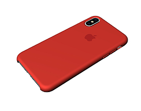 Iphone X Official original liquid silicone case 3d model