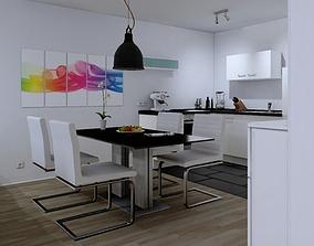 Modern Flat Interior 3D model