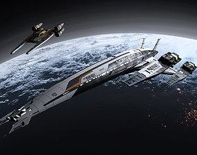 3D Normandy N7 - Mass Effect