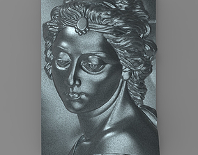 3D printable model Beautiful lady face Bas relief for CNC