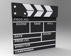 Movie Clappboard 3D model