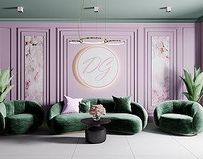 Reception interior scene 3D