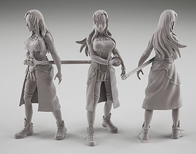 Asuna fanart from online sword art 3D printable model