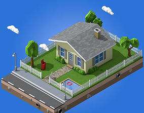 3D asset Low Poly Home