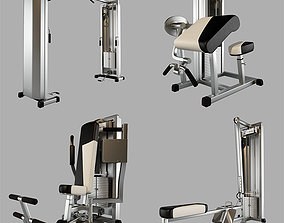 Trainers gym machines 3D