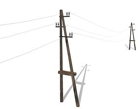 Electricity Pole 23 3D asset