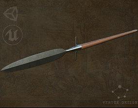 Medieval Winged Spear 3D model